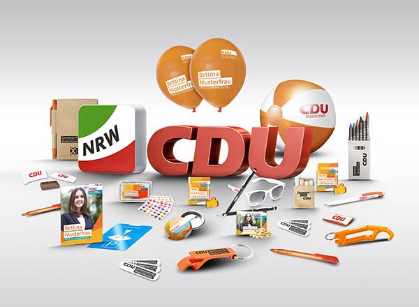 Kleinwerbemittel der CDU Nordrhein-Westfalen